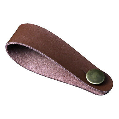 Brown Microfiber Leather Guitar Strap Button for Folk/ Acoustic / Classic Guitar