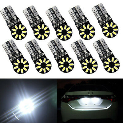 10Pcs T10 3014 18SMD W5W 194 168 921 No Error LED Light Bulbs White 12V