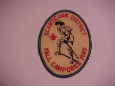 Unused Scanticook District Mass. Fall Camporee 1985 Boy Scout Patch BSA    Hiker