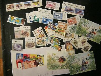 Jersey  (E)  Mostly Unmounted Mint Sets  Face £60  In 3 Photos Postfree Uk