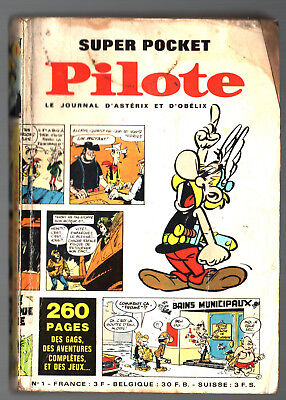 SUPER POCKET PILOTE n°1 # 1968 # LE JOURNAL D'ASTERIX # TANGUY / LUCKY LUKE...