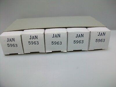 Sleeve Of 5 Nos Jan 5963/12Au7 Tubes