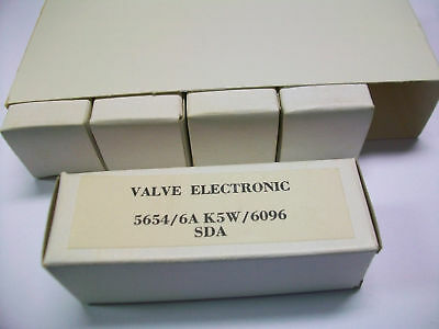 Sleeve Of Five Valve Elect. 5654/ 6Ak5W / 6096 Tubes