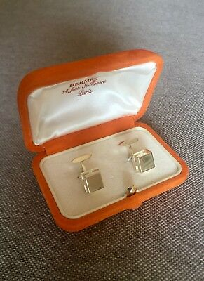 Classic Hermes Cufflinks- Sterling Silver - Marked - comes with box!