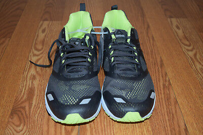 NEW MENS REEBOK AHARY RUNNER Black Lime Athletic Running Tennis Shoes Sz 10.5