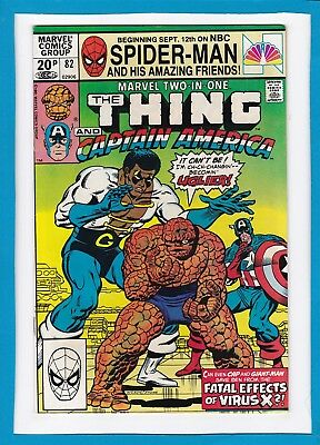 Marvel Two-In-One #82_Dec 1981_Nm Minus_The Thing_Captain America_Giant-Man_Uk!