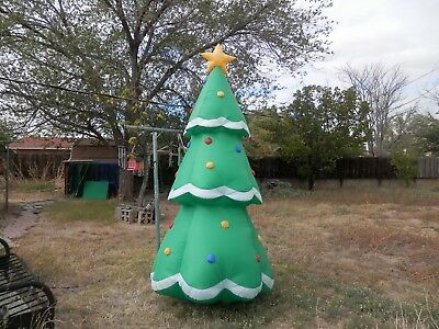 gemmy airblown inflatable 8 ft tall decorated lighted christmas tree - Huge Inflatable Christmas Decorations