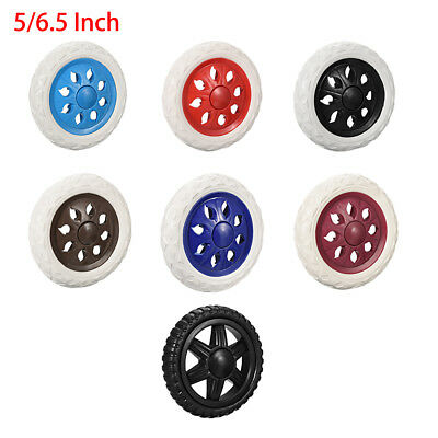 5/6.5 Inch Dia Shopping Cart Wheels Trolley Caster Replacement Rubber Foaming