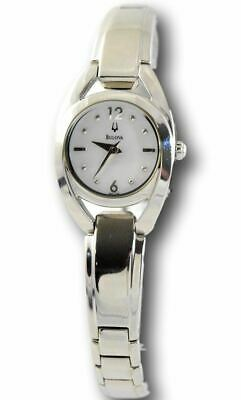 Bulova 96L125 Women's Stainless Steel Round Mother of Pearl Dial Watch