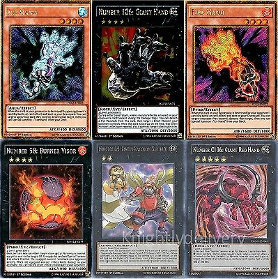 Girag Complete Deck - Number C106: Giant Red Hand - Fire Hand - Ice - 45 Cards
