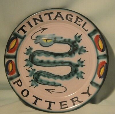 Tintagel Pottery Advertising Plate from Tintagel Very Good