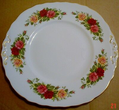 Pretty Royal Vale ROSES Cake or Biscuit Plate