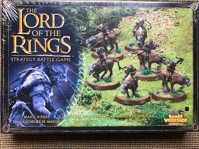 NEW Lord of The Rings SBG Warg Riders Citadel 6x Miniatures NEW GW 06-30
