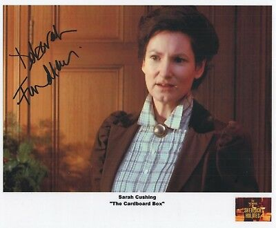 "Sherlock Holmes Auto Photo Print Deborah Findlay ""Sarah Cushing"""