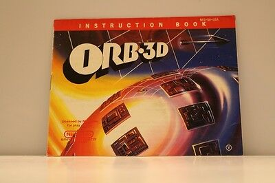 ORB-3D NES Video Game Manual Instructions Nintendo