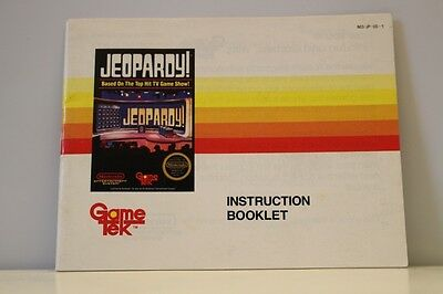 Jeopardy ONLY for the NES Nintendo Entertainment System