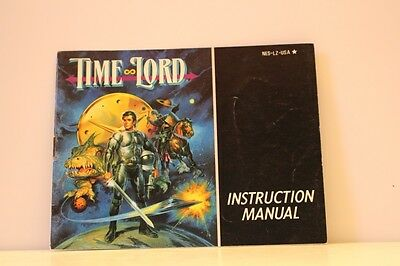 Time Lord NES Video Game Manual Instructions Nintendo