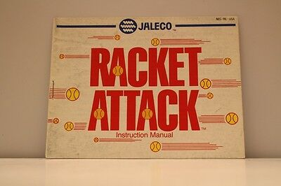 Racket Attack NES Video Game Manual Instructions Nintendo