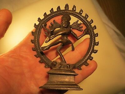 Vintage Buddhist Shiva Lord of Dance Nataraja Figure Brass Hindu Sculpture NR