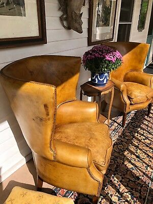 Vintage Pair of Custom English Wingback Chairs