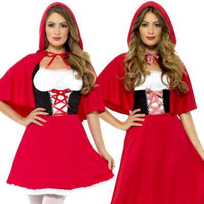 Little Red Riding Hood Womens Fancy Dress Fairy Tale Book Day Ladies Costume New