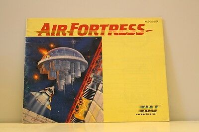Air Fortress NES Video Game Manual Instructions Nintendo