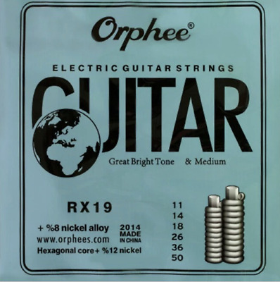 4 X Electric guitar strings medium 0.11 + 20 Free picks + Free delivery