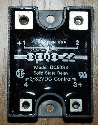 OPTO 22 DC60S3 SOLID STATE RELAY, new in box with screws