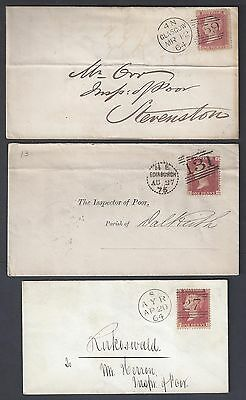 UK GB SCOTLAND IRELAND 1950's 70's COLLECTION OF SIX NEAT CELTIC TOWNS EDINBURGH