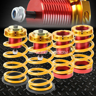 "For 12-15 Honda Civic 1-4"" Adjustable Gold Spring Coilover Suspension Lowering"