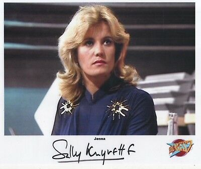 "Blake's 7 Auto Photo Print Sally Knyvette ""Jenna"""