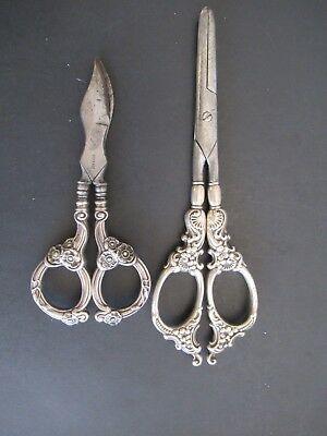 Pair Of Sterling Silver Scissors Made In Germany