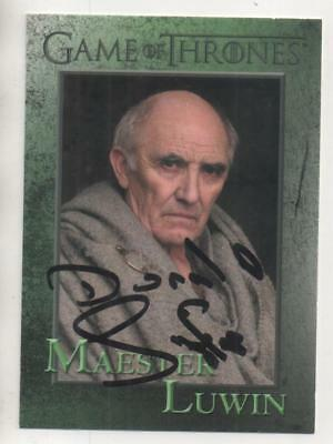"Game of Thrones Trading Card No.63 Auto by Donald Sumpter ""Maester Luwin"""