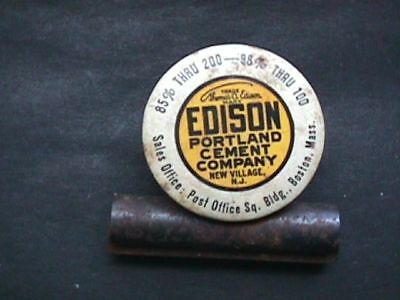 121 Edison Portland Cement Paper Clip Advertising Antique New Jersey
