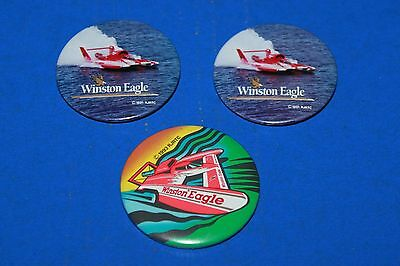 Lot of 3 Winston Eagle Hydroplane Racing Pins
