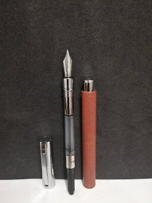 Fountain Pen Faber Castell Ambition Pearwood With Chrome Plated Finish  Germany