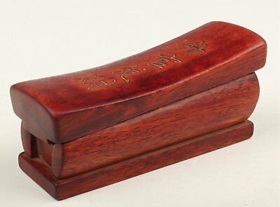 Red Wood Hand Carved Coffin Statue Gold Bullion Collection Box Ladder Gift