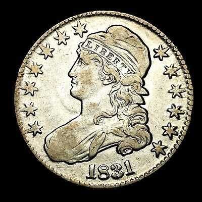 1831 ~**XF++**~ Silver Capped Bust Half Dollar Antique US Old Coin! #505