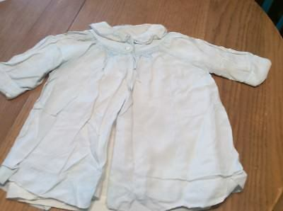 Antique Child's / Baby Victorian Pale Blue Embroidered  Silk Jacket Linen Lined