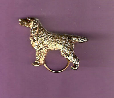 Gordon Setter Gold Plated Eyeglass Spectacle Holder Pin Jewelry