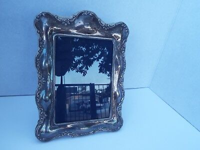 Vintageantique Repousse Sterling Silver Picture Frame With Silver