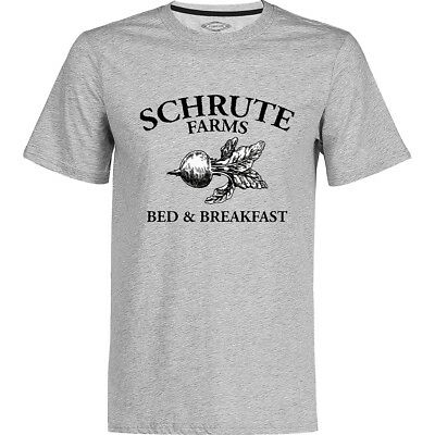 Schrute Farms - Bed and Breakfast Vintage Pattern T Shirt The Office Dwight Tee
