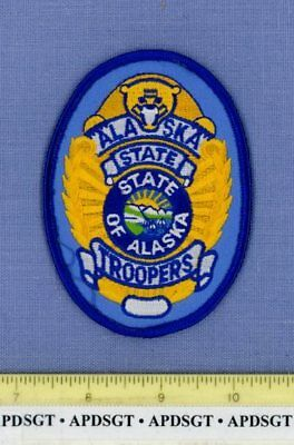 """ALASKA STATE TROOPERS Sheriff Hat Police Patch GOLDEN BEAR 4"""""""