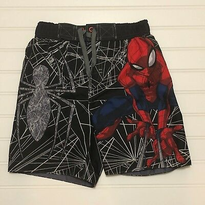 NWT Boys Star Wars Swim Trunks Size 4 Board Shorts Spiderman Spider Man