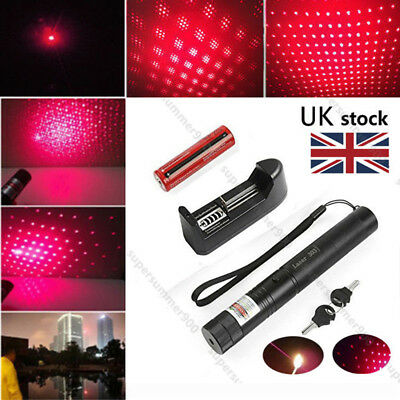 Red 532nm Laser Pointer Lazer PPT Pen Light 303 Visible Beam+Battery+Charger
