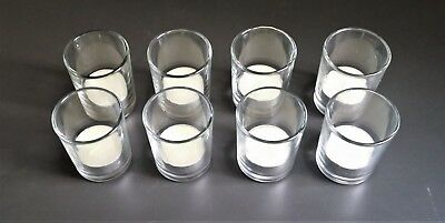 8 verres pour bougies d'ambiance (bougies non fournies)