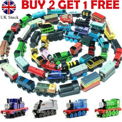 Kids The Tank Engine Take-n-Play Engines & Carriages Magnetic Wooden Trains Toy
