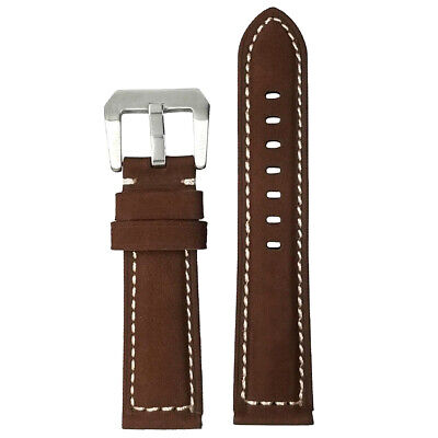 Unisex Quick Release Genuine Leather Watch Band Strap Belt 20mm 22mm 24mm