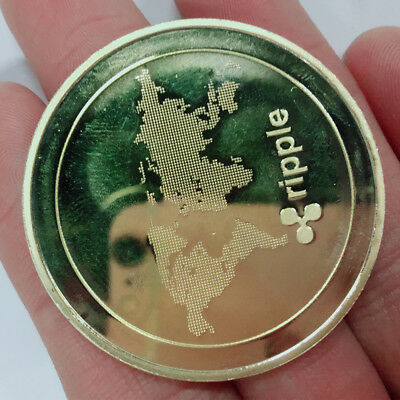 NEW!Gold Ripple Coin Commemorative Round Collectors Coin Physical  XRP Coins