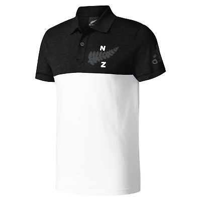 the best attitude 71293 46a79 adidas NEW ZEALAND ALL BLACKS COLLEGIATE POLO SHIRT MEN S WHITE RUGBY UNION  BNWT